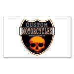 CUSTOM MOTORCYCLES Rectangle Sticker