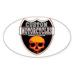CUSTOM MOTORCYCLES Oval Sticker