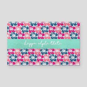 Kappa Alpha Theta Flowers Rectangle Car Magnet