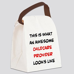 awesome childcare provider Canvas Lunch Bag