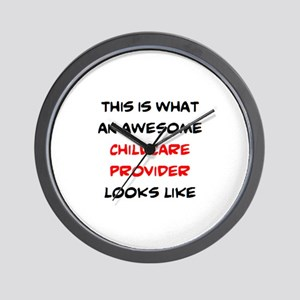 awesome childcare provider Wall Clock