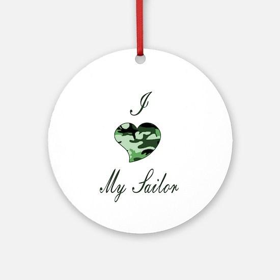 I love Sailor Ornament (Round)