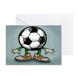 Greetings soccer Greeting Cards