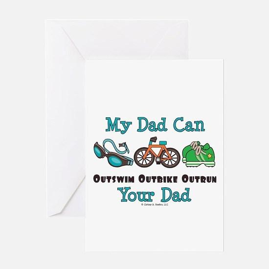 Dad Triathlete Triathlon Greeting Card