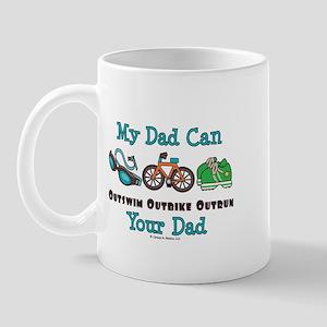 Dad Triathlete Triathlon Mug