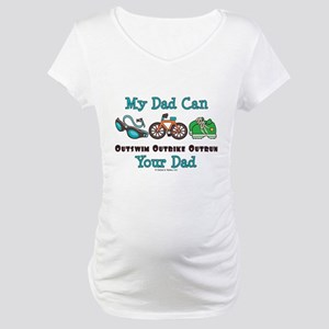 Dad Triathlete Triathlon Maternity T-Shirt