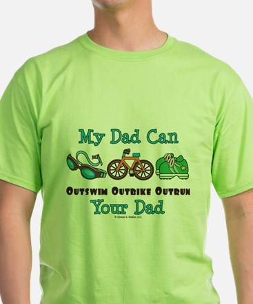 Dad Triathlete Triathlon T-Shirt