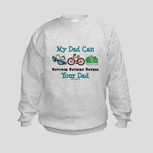 Dad Triathlete Triathlon Kids Sweatshirt