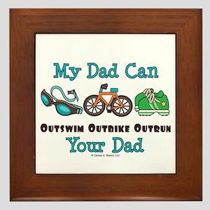 Dad Triathlete Triathlon Framed Tile