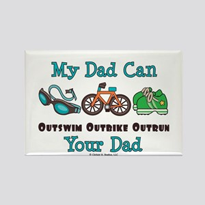 Dad Triathlete Triathlon Rectangle Magnet