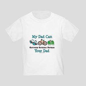 Dad Triathlete Triathlon Toddler T-Shirt