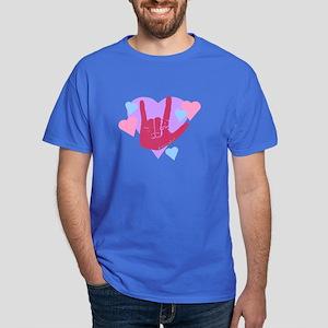 ILY Hearts Dark T-Shirt