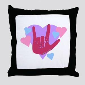 ILY Hearts Throw Pillow