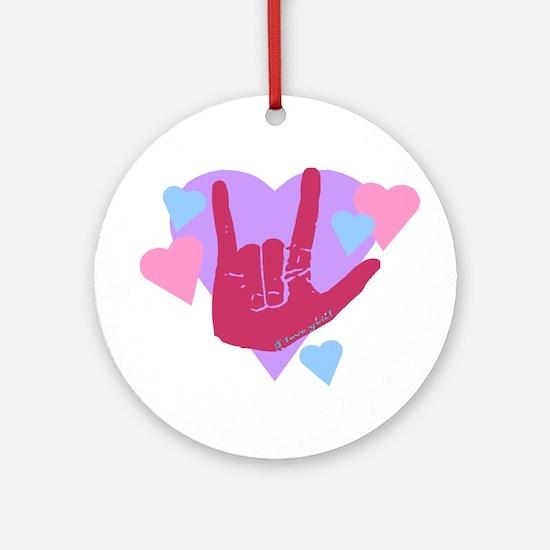 ILY Hearts Ornament (Round)