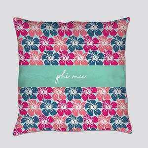 Phi Mu Flowers Everyday Pillow