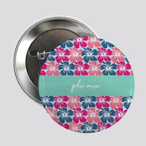 "Phi Mu Flowers 2.25"" Button (10 pack)"