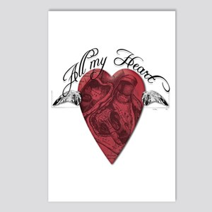 """""""All My Heart"""" Postcards (Package of 8)"""