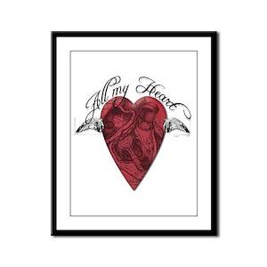 """All My Heart"" Framed Panel Print"