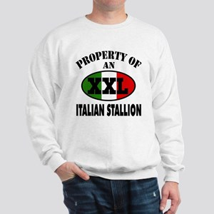 Property of XXL Italian Stallion Sweatshirt