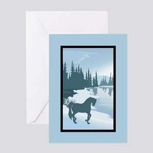 Silhouette Andalusian Christmas Greeting Card