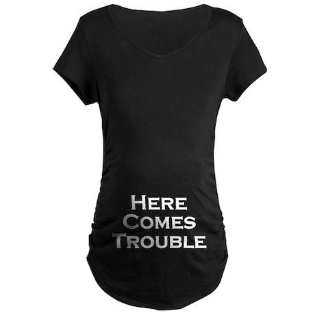 Here comes Maternity Dark T-Shirt