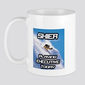 """Skier Playing Executive Today"" Mug"
