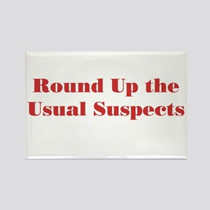 Usual Suspects 1 Rectangle Magnet