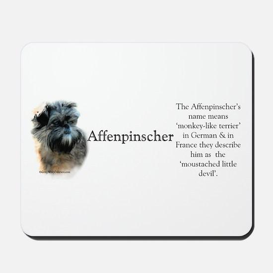 Affenpinscher Profile Mousepad