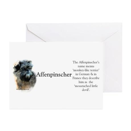 Affenpinscher Profile Greeting Cards (Pk of 20)