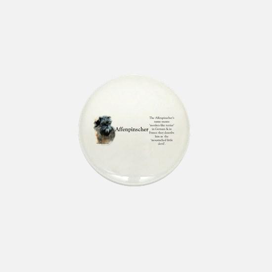 Affenpinscher Profile Mini Button
