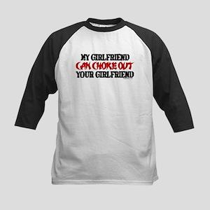 MY GIRLFRIEND CAN CHOKE OUT Y Kids Baseball Jersey