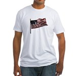 Flag waver and proud of it! Fitted T-Shirt