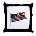 Flag waver and proud of it! Throw Pillow