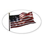 Flag waver and proud of it! Oval Sticker