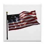Flag waver and proud of it! Tile Coaster