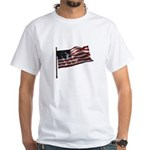 Flag waver and proud of it! White T-Shirt
