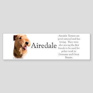Airedale Profile Bumper Sticker