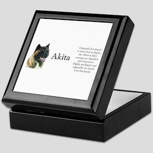Akita Profile Keepsake Box