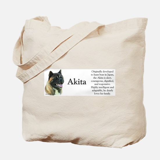 Akita Profile Tote Bag