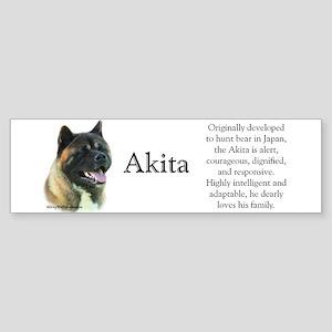 Akita Profile Bumper Sticker