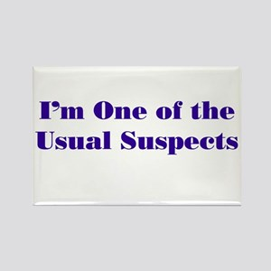 Usual Suspects 2 Rectangle Magnet