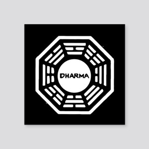 "Lost Dharma Square Sticker 3"" x 3"""