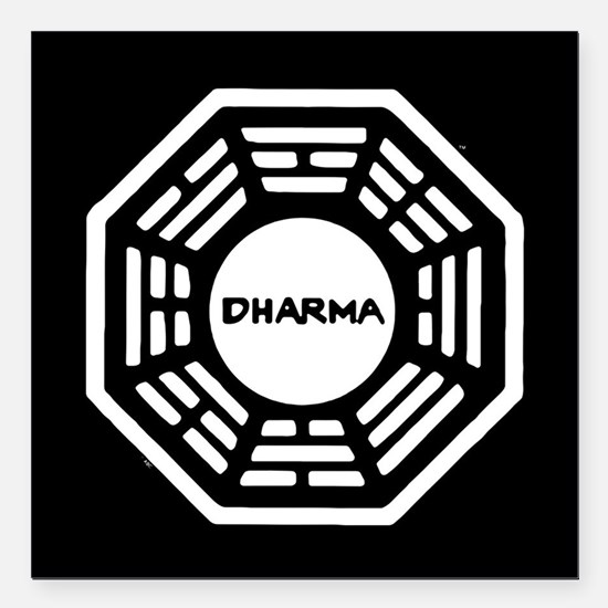 "Lost Dharma Square Car Magnet 3"" x 3"""