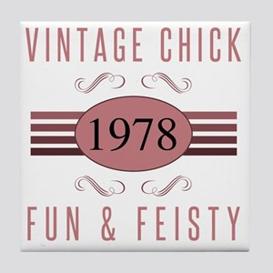 1978 Vintage Chick Tile Coaster