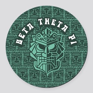 Beta Theta Pi Beach Round Car Magnet