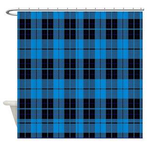 Blue Plaid Shower Curtains