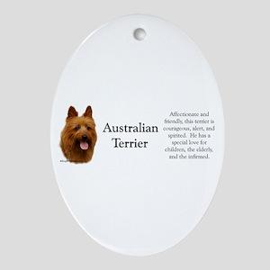 Aussie Terrier Profile Oval Ornament