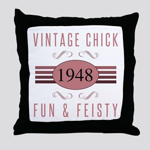 1948 Vintage Chick Throw Pillow