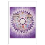 5th Chakra Mandala Large Poster