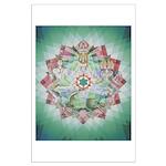 4th Chakra Mandala Large Poster